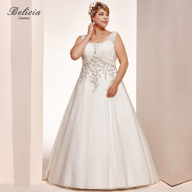Belicia Couture Women Bridal Gown Beading Appliques Wedding Dresses ...