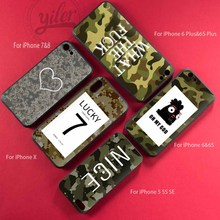 Fashion Lucky 7 Army Camouflage Skin Case For Coque iPhone X for XS Black Soft Cover Fundas Cases
