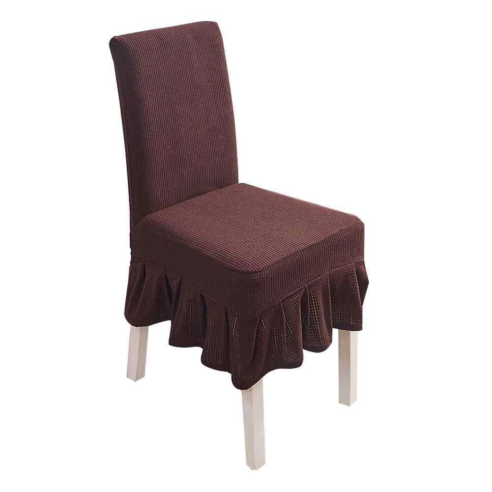 Водонепроницаемые клетчатые флисовые эластичные чехлы на кресла с рисунком ананаса, простые гофрированные края, обеденный стол, стул для ресторана