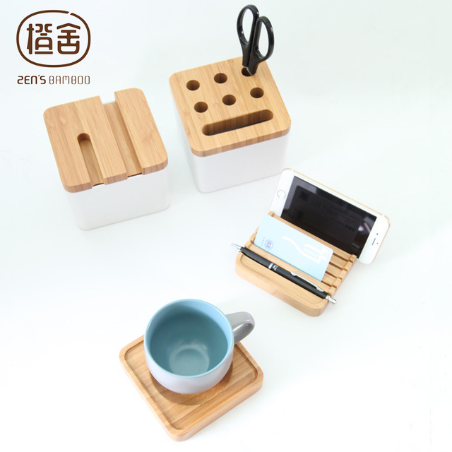 Pencil Holder Organizer Multifunction Coffee Cup Card Storage Case Office Desk Bo