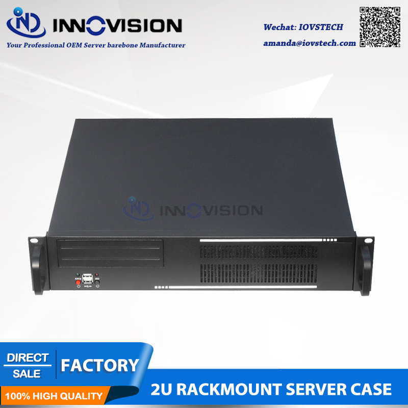 Functional  2U Rack Mount Chassis RC2400W,support Mirco ATX Server Motherboard