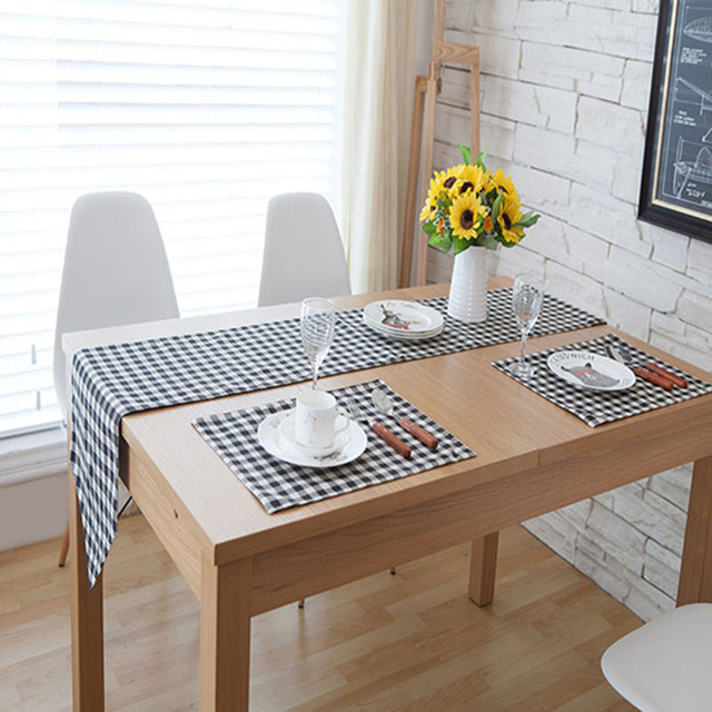Chinese Modern Table Runner Minimalist Style Runners Lattice Retro Clic Cloth Coffee Home