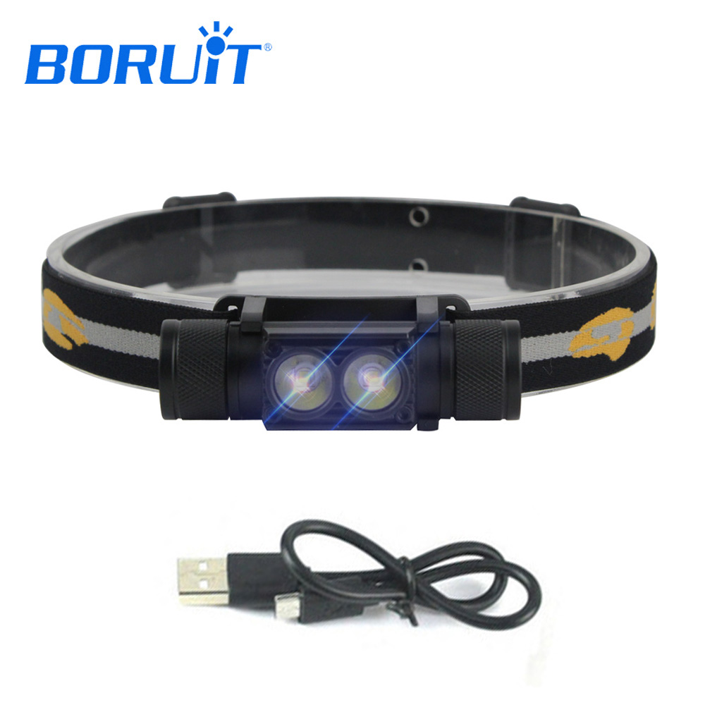 BORUIT Brand 1000LM Head Torch XML L2 LED Headlight Mini Head Flashlight Outdoor Sports 18650 Headlamp Camping Fishing Hunting купить дешево онлайн
