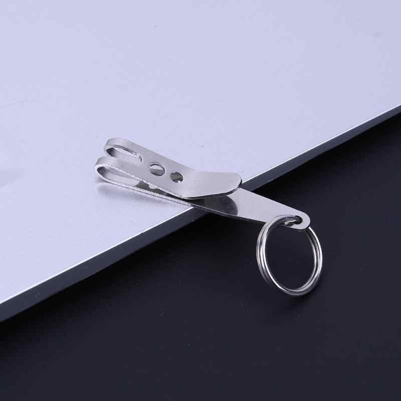 1 Mini Clip de Suspension de sac de poche Portable EDC Camping en plein air en acier inoxydable multi-outils multi-fonction porte-clés Clip de fixation