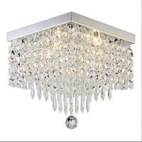 Fashion Selling Crystal Chandelier Square Ceiling Lamp Luster LED K9 Crystal Aisle Lights Living Room Bedroom