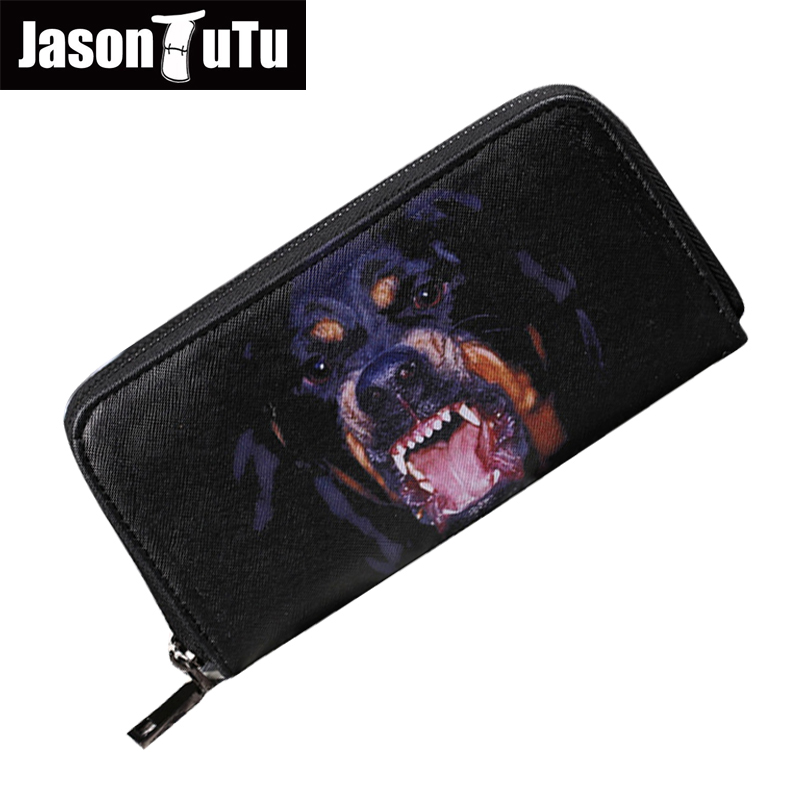 15-25 days to Moscow/Men wallets Male purse Man Long wallet money bag Dog logo Good quality PU leather men's purse B410