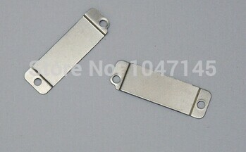 Free Shipping 10pcs Metal plate Toggle Stator for iPhone 4S charger dock flex cable COVER CLIP