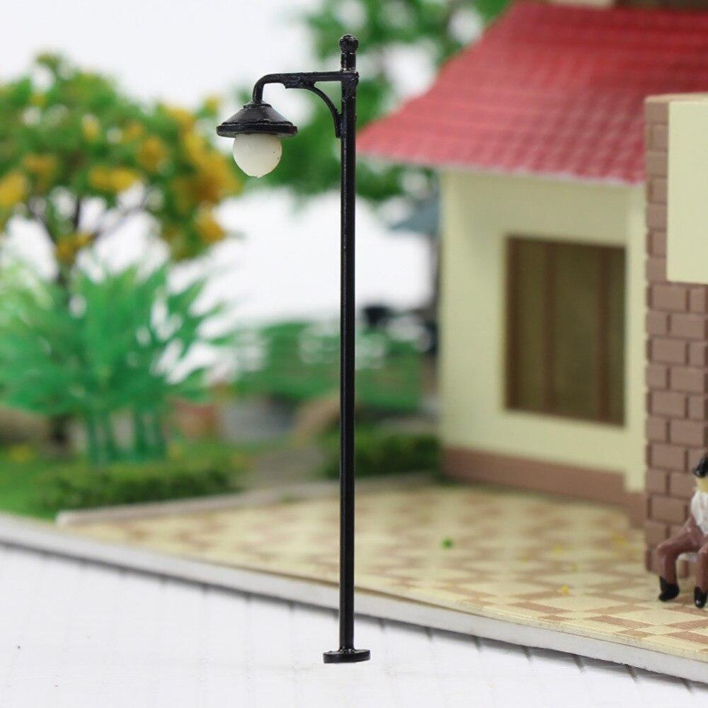 Image 2 - LYM22 10pcs Model Railway Train Lamp Post Street Lights HO OO Scale LEDs NEW Building MiniatureModel Building Kits   -