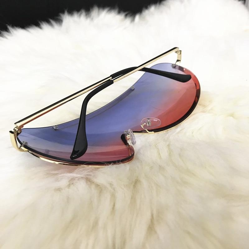 Rimless Gold Clear Sunglasses Men Women Brand Designer Aviator Clear Sunglasses 12