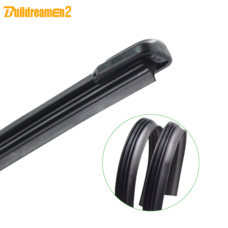 Buildreamen2 Car Windshield Soft Rubber Wiper Blade Bracketless Windscreen Wiper For Dodge Journey 4-Door 2009-2014