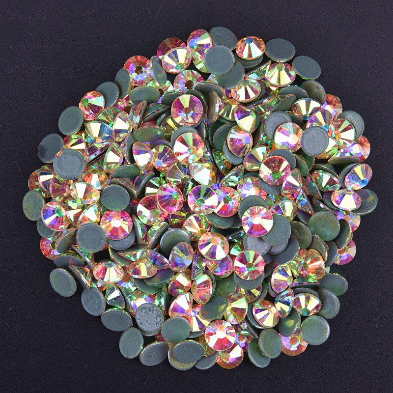Detail Feedback Questions about AAAAA SS 6 12 16 20 30 Crystal AB Glass  Hotfix Rhinestones Hot Fix Iron On Clear Crystals Stones Flatback Strass  For Clothes ... 21b1936f8c36