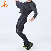YD New Compression Quick Dry Tight Tracksuit Men Training Fitness Long Sleeve Shirt Pants Male O