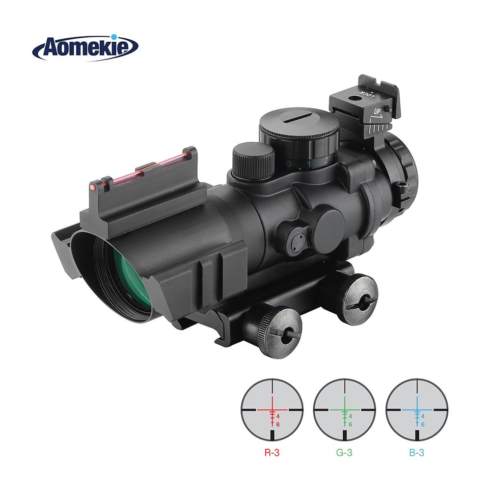 Lunette de visée AOMEKIE 4X32 ACOG lunette de visée Reflex portée de visée tactique pour fusil de chasse Airsoft Sniper 20mm monture de Rail en queue d'aronde