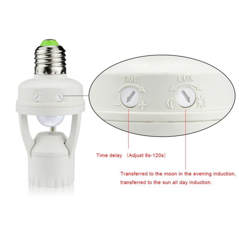 PIR Induction Motion Sensor IR Infrared Human E27 Plug Socket LED Light 360 Degrees Sensor Switch Base Lamp Holder