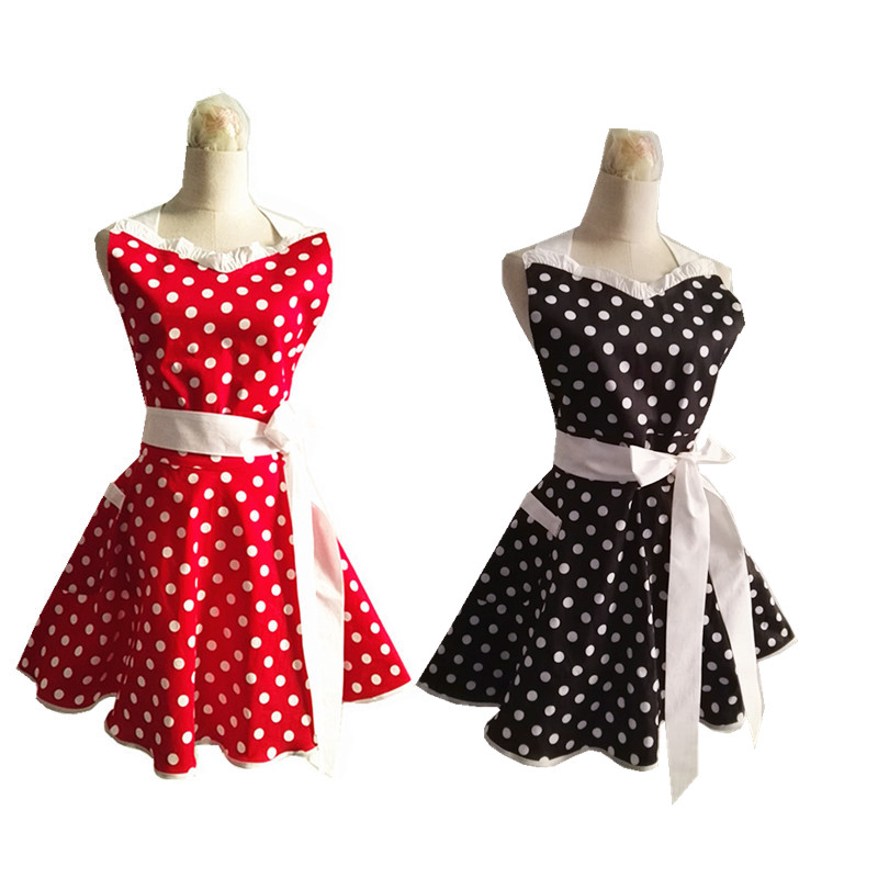 retro cute cotton apron for cosplay kitchen apron organizers Beauty shop work apron Avental Delantal grembiule