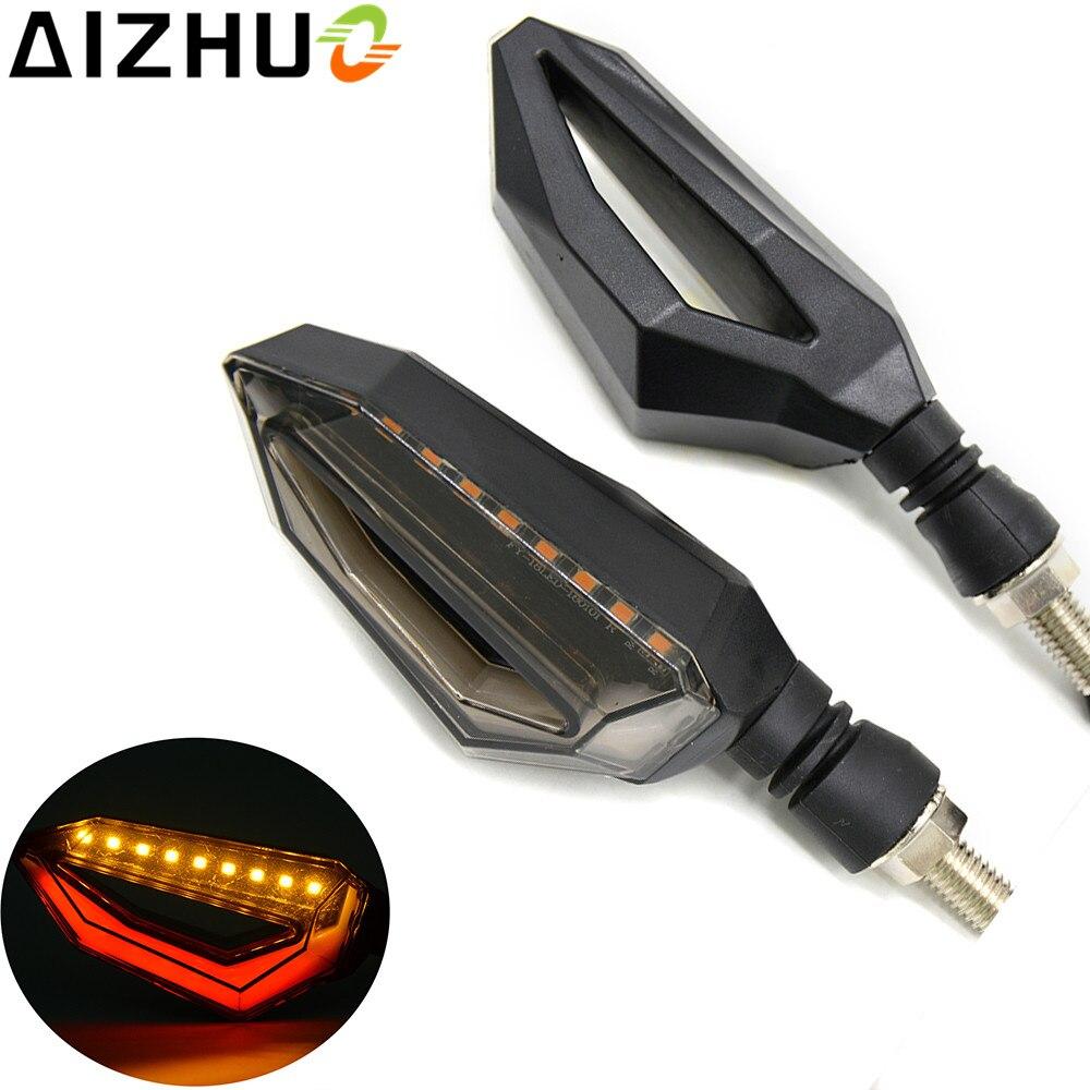 Motorcycle Turn Signal Light Amber Lights Universal 9 LED 12V Decorative Lamp For Honda CBR650F shadow 650 750  CBR 600 F4I PCX
