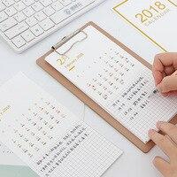Настольный календарь и дерево буфер обмена 2018 год Творческий Многофункциональный Рабочий стол бумажный календарь Еженедельный органайзер...