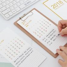 Table Calendar & wood clipboard 2018 Year Creative multifunction Desktop Paper Calendar weekly agenda planner organizer Gift