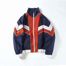 Vintage Multicolor Color Block Patchwork Windbreaker Men Hip Hop Streetwear neutral Casual  mens jackets and coats Autumn 2019