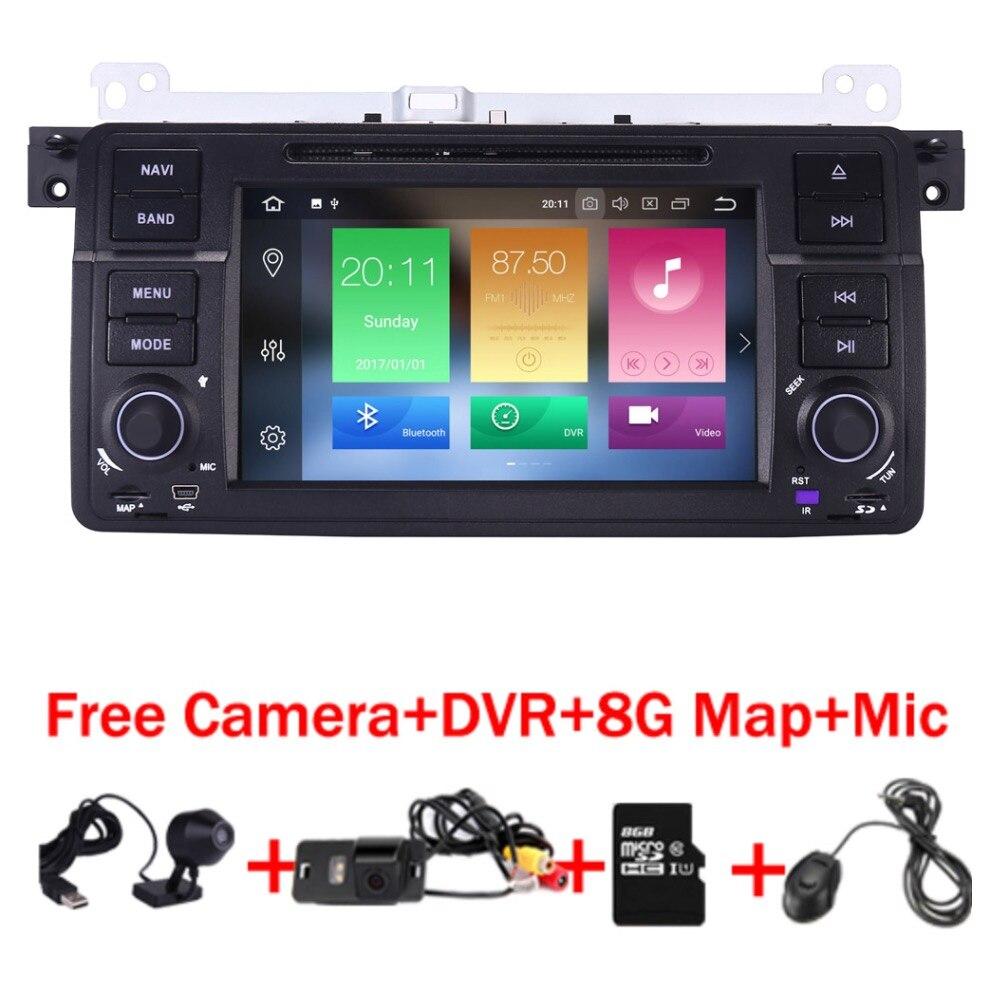 2018 En Stock Lecteur DVD de Voiture pour BMW E46 Navigation Android 8.0 Wifi 4g 3g GPS Bluetooth Radio RDS USB SD Livraison 8 gb SD Carte DVR