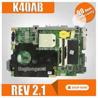 REV 2.1 Laptop Motherboard Para ASUS K40AB K40AB K40AD K40AF K50AB K50AD K50AF X8AAF X5DAF Mainboard Motherboard 512M