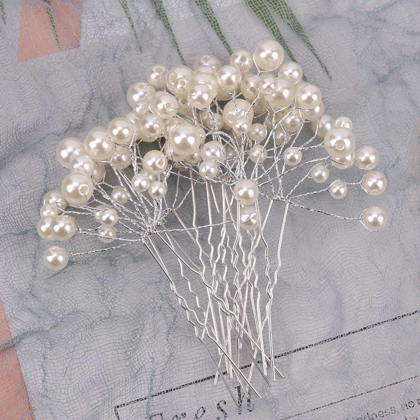 5 шт. Мода девушка цветок жемчуг заколки для волос женский стиль шпилька для волос свадебный ободок с жемчужинами Заколки ювелирные аксессуары