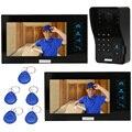 """KKmoon 7"""" Video Door Phone Intercom Doorbell Touch Screen RFID Cards/Code Unlock Keypad IR Camera Video Doorbell Night Vision"""