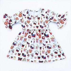 Image 3 - 4 עיצובים בנות מסיבת שמלת ילדים של בוטיק בגדי בובת הדפסי בנות שמלת תינוק שמלות Milksilk בתפזורת wholesales 2019