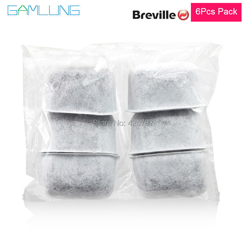 water filter brands - Gamlung Brand Water Filter Cartridges 6 PCS Charcoal Water Filters Replaces Active Carbon for Breville Coffee Machines