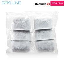 Gamlung Marke Wasserfilterpatronen 6 STÜCKE Holzkohle Wasser Filter Ersetzt Aktivkohle für Breville Kaffee Maschinen