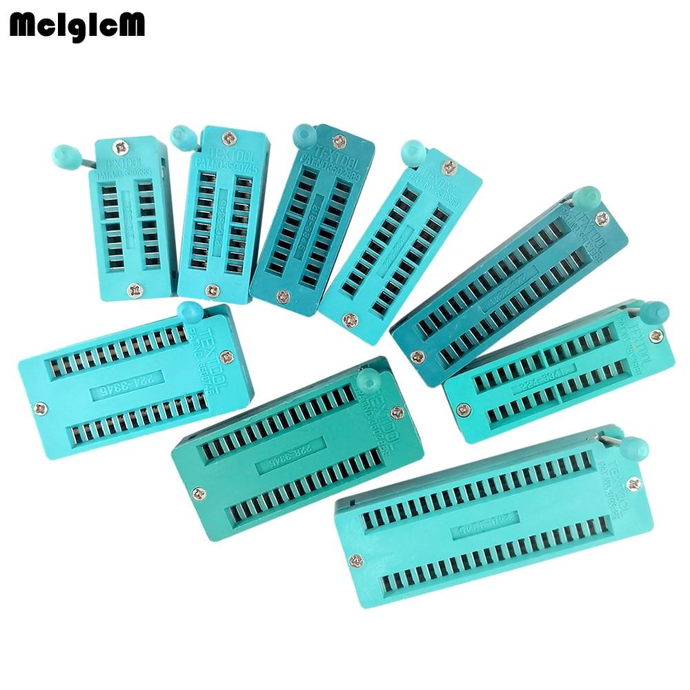 2pcs/lot IC Lock Seat Zif Socket Test Universal Zif Sockets 14Pin/16Pin/18Pin/20Pin/24Pin/28Pin/40Pin  14P/16P/18P/20P/24/28/40P