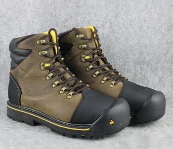 Mężczyźni Stali Toe Cap zewnątrz walking buty męskie skóra bydlęca buty robocze wodoodporne antypoślizgowe walking buty trekkingowe