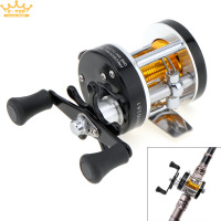 Black Right Hand Full Metal Drum Fishing Reel Gear Ratio 3 8 1 Trolling Wheel Casting