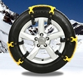 2016 High Quality 6PCS Car Snow Tire Anti-skid Chains White Chains For Family Car Auto Accessories Free Shipping