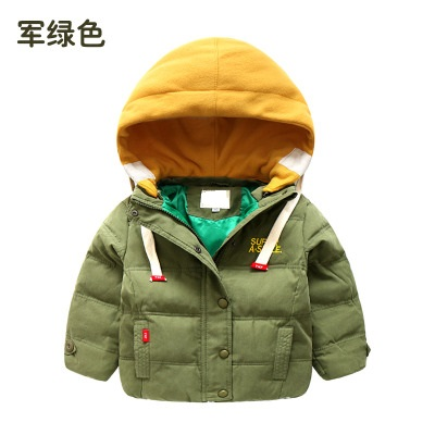 Warm Coat Jacket Clothing Windbreaker Hooded Winter Children Casual Thick Fashion 3-8T