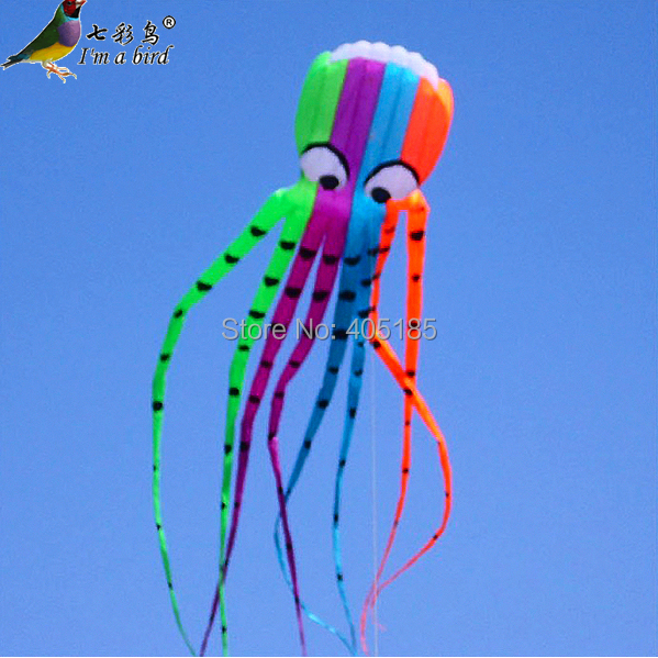 цена на Outdoor Fun Sports High Quality 8m Power Kite Software Octopus Flying Free Shipping