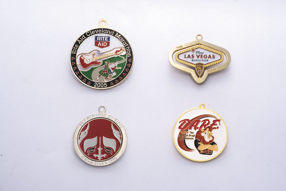 US $419 0  Wholesale Custom Made Sports Medals 60 mm one side one colour  soft enamel 100 pcs medals-in Pins & Badges from Home & Garden on