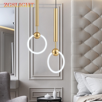 Simple New Quality Pendant light Modern Fashion White Lamps For Dining Room Restaurant Bedroom Living Room Office Bar Round