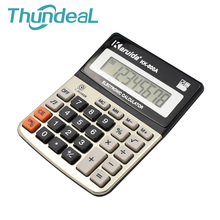Portable Electronic Scientific Calculator 8 Digital Display Metal Panel Desktop Calculator for Financial/Study/Work with Battery(China)