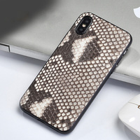 Genuine Leather Case for iPhone 6plus 7 8 X XS XS XR XSmax Full Protective Slim TPU Silicon Luxury Python Skin Cover New Arrival