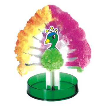 Hot 2017 Colour Magical Growing Paper Peacock Tree Magic Grow Trees Wunderbaum Christmas font b Science