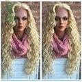 7A 130% плотность бразильские странный вьющиеся фронта девы волос человеческих волос Glueless полный парики # 613 с ребенком волос свободной части