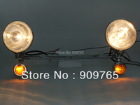 Free Shipping 1 Set Amber Driving Turn Signal Lamp Passing SpotLight 35w Lights Bar For Kawasaki