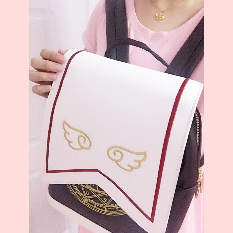 Cosplay Card Captor Sakura Backpack School Bag Shoulder Bag Bookbag ... e993716ef07e5