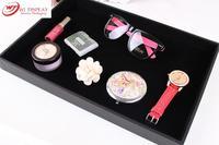 Organizer Black Velvet Jewelry Dsiplay Tray 35 24 3cm Showcase Case Box Tray Stand Bracelet Ring