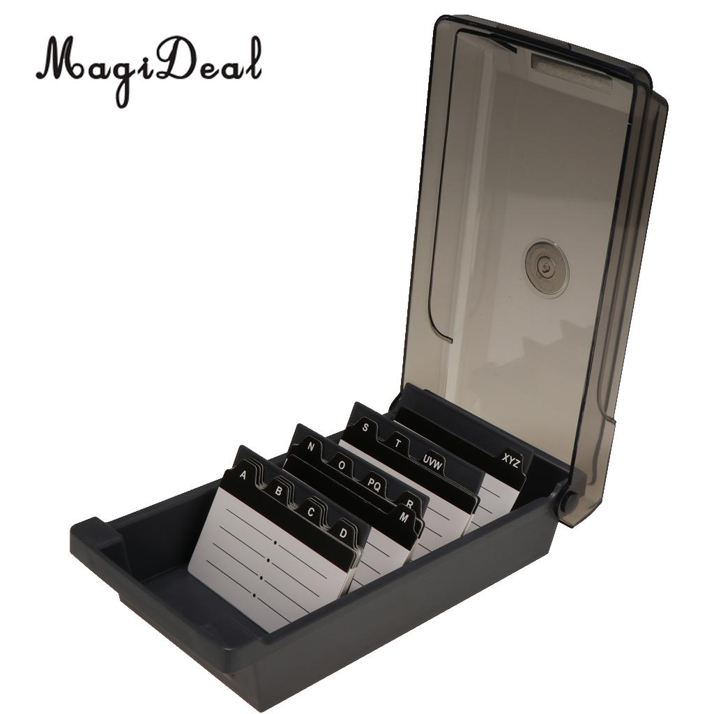 Large capacity business card holder box business card file card large capacity business card holder box business card file card storage box organizer index card storage colourmoves