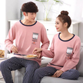 Moda Casual Homewear Pijama et Femme Homme Para Hombre Pijamas Tamaño de Manga Larga de Cuello Redondo de Algodón Pijamas para Los Hombres M-XXL