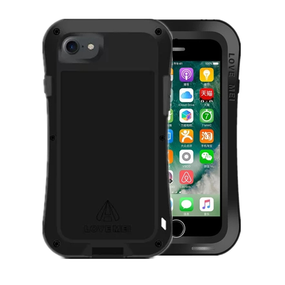 Luxury Aluminum Metal Hybrid Shockproof Armor Hard Life Waterproof Cover Case For iphone 7 / iphone 7 Plus Phone Cases Shell