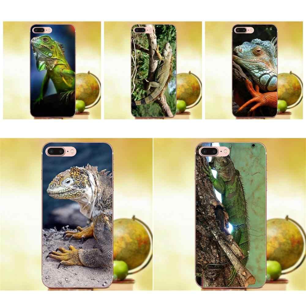 Qdowpz Игуана ящерица животного Бразилии Игуасу джунгли для Galaxy Alpha Core Prime Note 4 5 8 S3 S4 S5 S6 S7 S8 S9 мини edge Plus