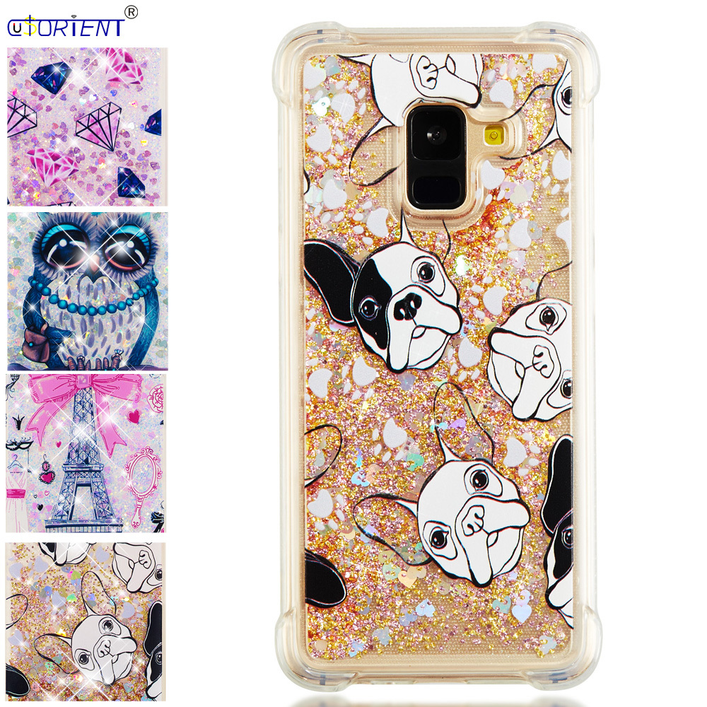 Fine Glitter Case For Samsung Galaxy A8 A5 2018 Dynamic Liquid Quicksand Silicone Tpu Phone Cover Sm-a530f/ds Sm-a530x Fitted Cases Phone Bags & Cases